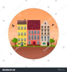 house vector illustration home exterior set stock vector 427543909