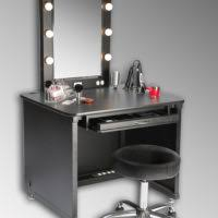 Black Vanity Set With Lights Bedroom White Wooden Carved Makeup Table With Storage Drawer And