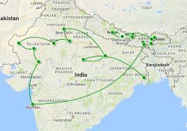 Hyderabad Map Subcontinent Map Earth Trekkers