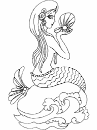 mermaid coloring pages 16832