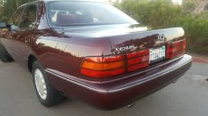 lexus ls400 1990 lexus ls sedan 1990 burgundy for sale jt8uf11e6l0036391 1990