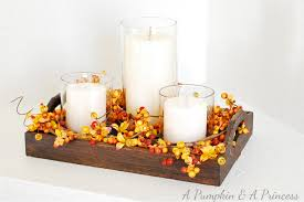 candle centerpiece fall candle centerpiece