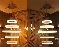 Lighting Fixture Manufacturers Usa 5 Rings Arcylic Circle Led Ring Pendant Suspension Light Fixtures