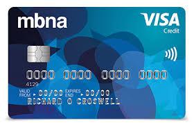 mbna visa credit cards compare credit cards mbna