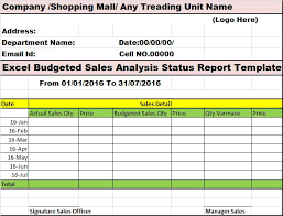 sales analysis report template company analysis report template tomu co