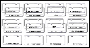 nissan murano license plate frame license plate frames factory font etched license frames all