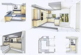 cuisine en perspective faux plafond cuisine ouverte 7 perspectives amp esquisses