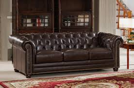 Leather Sofas Charlotte Nc by Amax Kensington Top Grain Leather Chesterfield Sofa U0026 Reviews