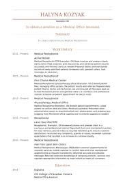 Sample Of Resume For Receptionist by Medical Receptionist Resume Samples Visualcv Resume Samples Database