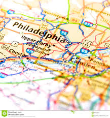 Philadelphia Pennsylvania Map by Map Of Philadelphia Stock Photo Image 42373977