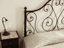 bedroom wrought iron and wood headboard wrought iron headboard