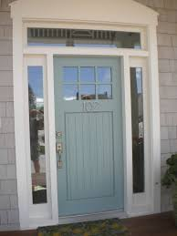 How To Paint An Exterior Door Architecture Blue Front Doors Wooden Door With Glass Exterior