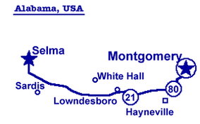 selma map selma to montgomery graphing martin luther king s walk perkins