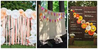 wedding backdrops diy diy wedding backdrops dinner 4 two