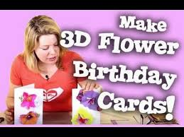 3d flower happy birthday greetings card tutorial mothers day