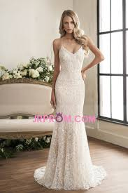 2018 open back spaghetti straps lace mermaid wedding dresses