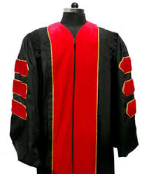 black cap and gown premium phd velvet gown as low as 199 each