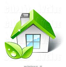 avenue clipart of a eco friendly small white home with a big