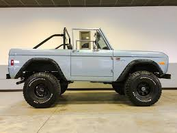 old bronco jeep 1977 ford bronco brittany blue maxlider brothers customs