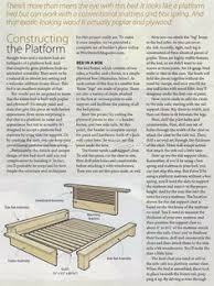 platform bed plans furniture plans and projects woodarchivist