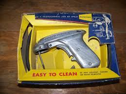 vintage metal paint sprayer in original box vintage paint gun