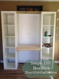 How To Build A Small Desk Build A Desk Out Of Ikea Expedite Units Dyi Project Pinteres