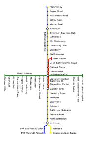 baltimore light rail map baltimore metro subway wikipedia