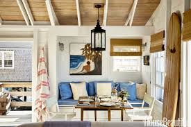 decorations beach house living room decorating idea with striped