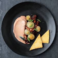 duck liver mousse with cipolline onions and mushrooms recipe saveur