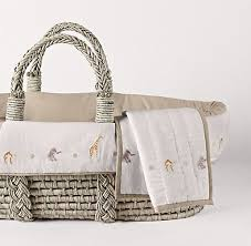 Baby Moses Basket Bedding Set Embroidered Safari Moses Basket Bedding Ash Basket Set Circus