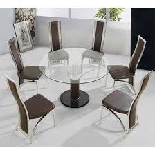 round glass table for 6 contemporary décor adding round top glass base dining table