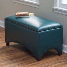 Storage Bench Bedroom Furniture Amazon Com Premium Nailhead Storage Bench Modern Leather Window