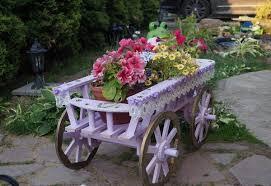 flower cart flower cart ideas a charming element of the garden decoration