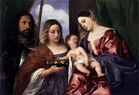 madonna and child with sts dorothy and george 1516 1520