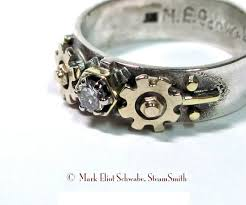 steunk engagement ring nerdy engagement rings wedding rings for
