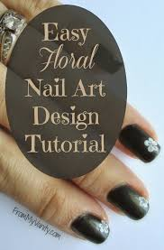 5 steps to creating an easy floral nail art design tutorial
