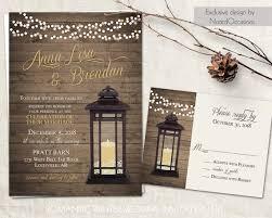 lantern wedding invitations lantern wedding invitations set rustic country wedding