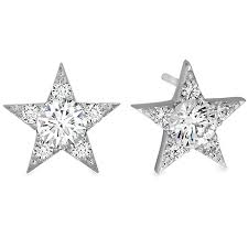 studded earrings diamond stud earrings hearts on