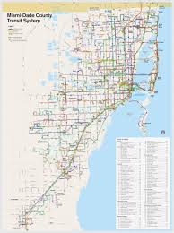 Dc Metro Bus Map by Miami Dade Transport Map