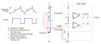 On Off Timer Circuit Diagram Reverse Engineering The Popular 555 Timer Chip Cmos Version