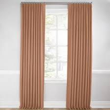 Orange And Beige Curtains Custom Euro Pleated Curtains U0026 Drapes Loom Decor