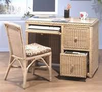 Rattan Desk Chair Home Office