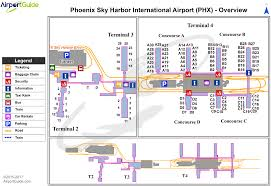 phx map airport maps charts diagrams sky harbor international