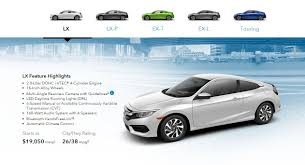 honda civic coupe lx vs ex 2016 honda civic coupe prices are out 10th civic forum