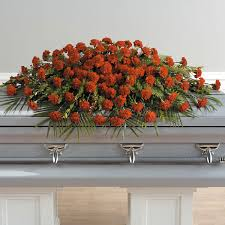 casket spray hulbert s flowers a well lived casket spray