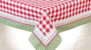 nappe de cuisine rectangulaire nappe de table rectangulaire 130x180 à carreaux rouges et blancs