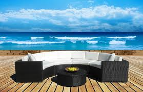 Round Wooden Patio Table by Amazon Com Outdoor Patio Furniture Sofa Sectional Wicker Round