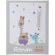 thermometre chambre enfant tableau personnalisé bébé thermomètre