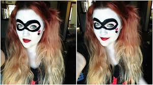 harley quinn makeup tutorial easy quick halloween look youtube