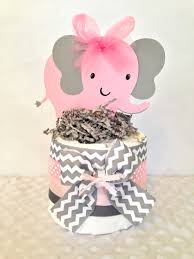pink and grey elephant baby shower decorations elephant